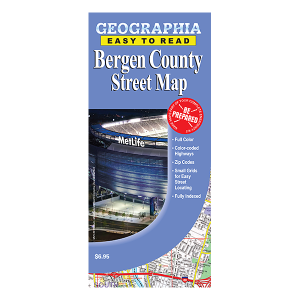 Bergen County (NJ) Street Map 1