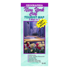 New York City 5 Map in 1 Tourist Map
