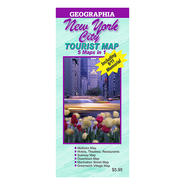New York City 5 Map in 1 Tourist Map  1