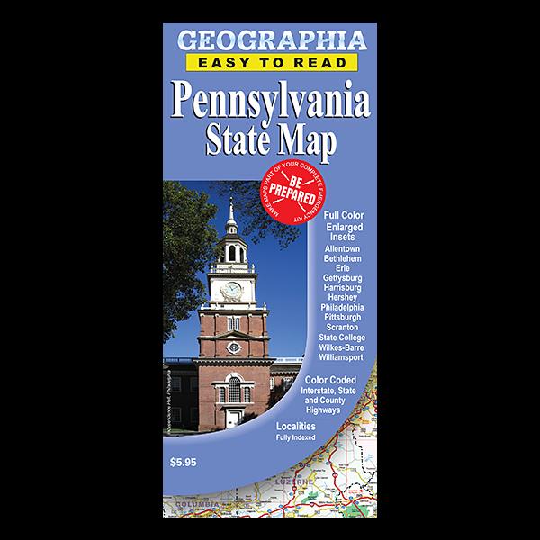 Pennsylvania State Map  1