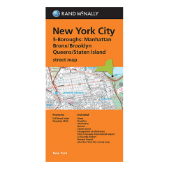 Rand McNally - New York City  5 Borough Map