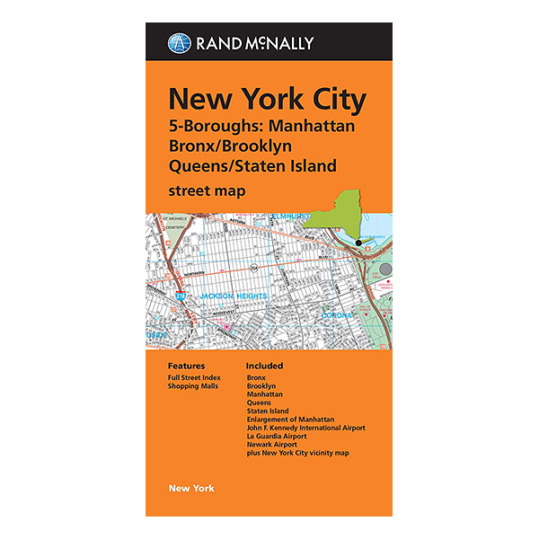 Rand McNally – New York City  5 Borough Map 1