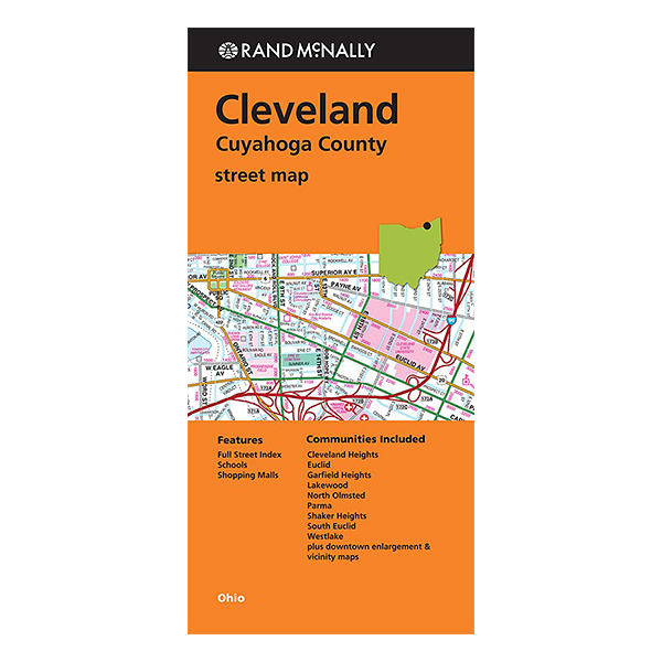 Rand McNally – Cleveland and Cuyahoga County (OH) Street Map 1