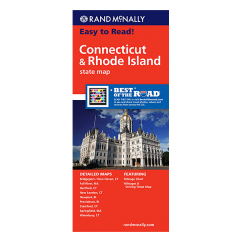 Rand McNally - Connecticut and Rhode Island States Map