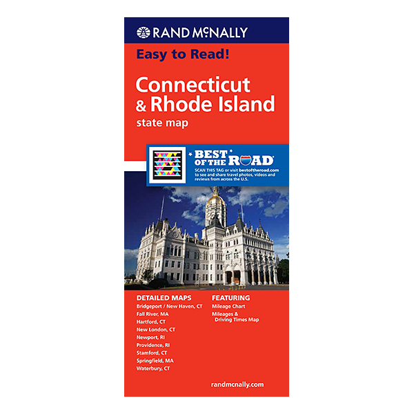 Rand McNally – Connecticut and Rhode Island States Map 1