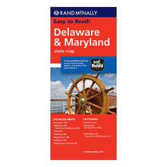 Rand McNally - Delaware and Maryland States Map