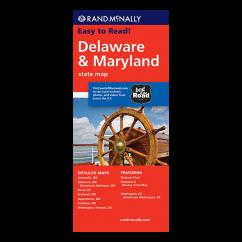 Rand McNally - Delaware and Maryland States Map