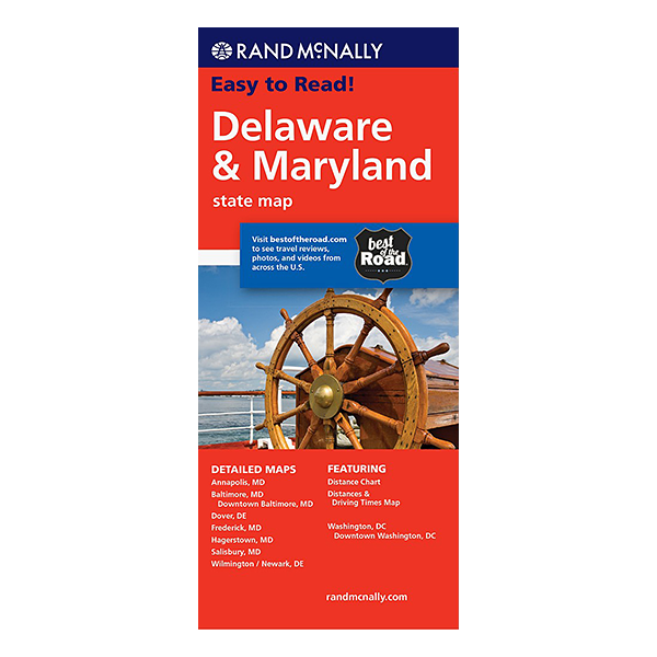 Rand McNally – Delaware and Maryland States Map 1