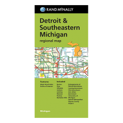 Rand McNally - Detroit and Southeast Michigan Street Map