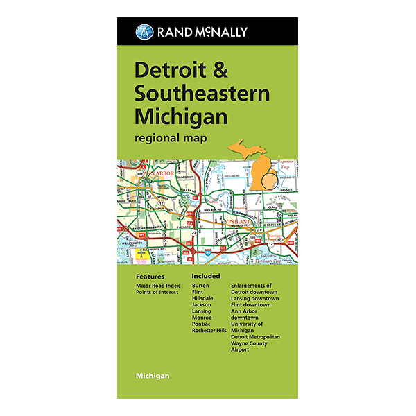 Rand McNally – Detroit and Southeast Michigan Street Map 1