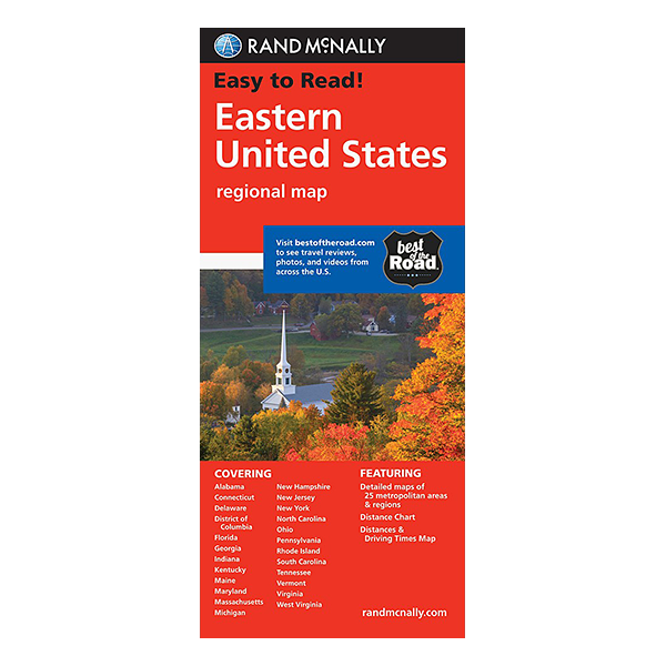Rand McNally – Eastern United States Map 1