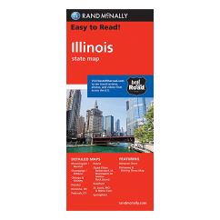 Rand McNally - Illinois States Map