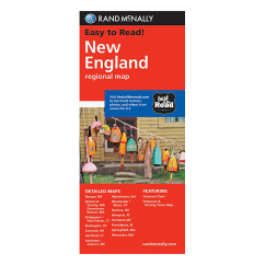 Rand McNally - New England States Map