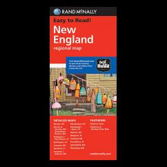 Rand McNally - New England States Map