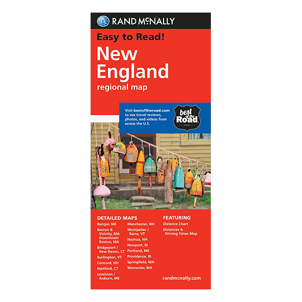 Rand McNally – New England States Map 1