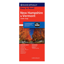 Rand McNally - New Hampshire and Vermont States Map