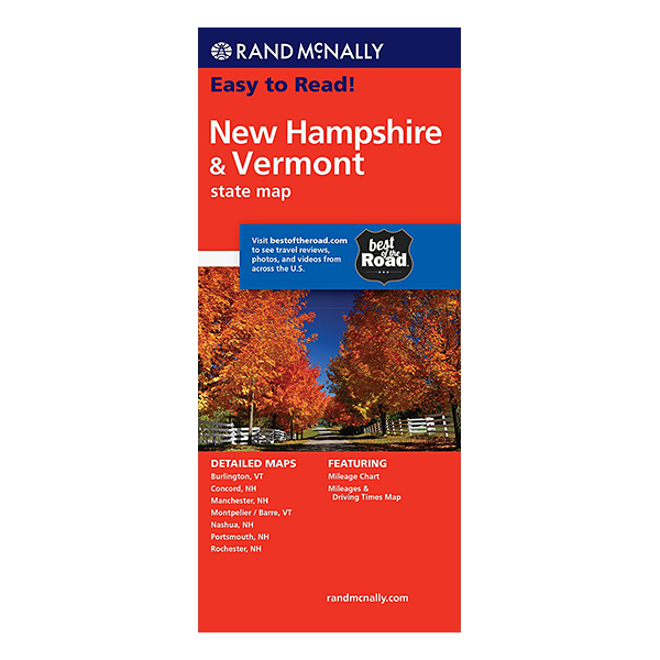Rand McNally – New Hampshire and Vermont States Map 1