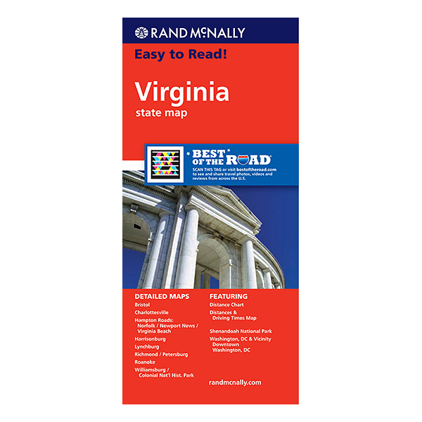 Rand McNally – Virginia State Map 1