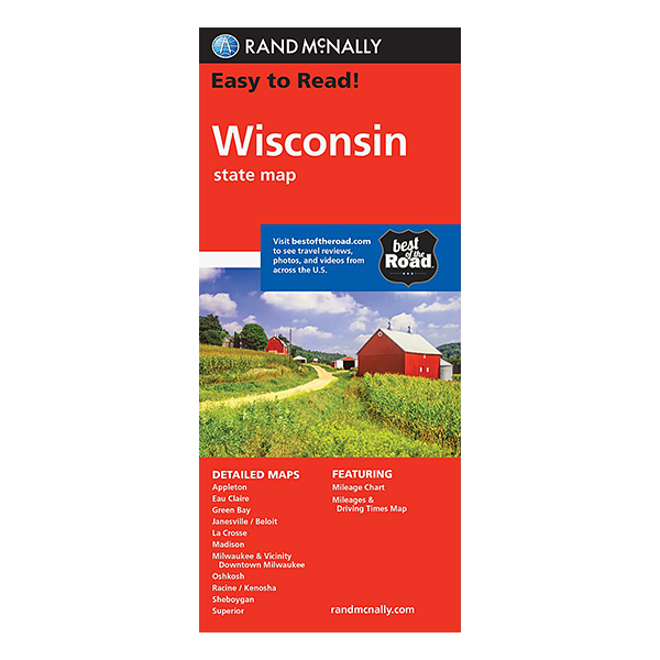 Rand McNally – Wisconsin State Map 1