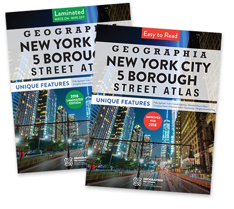 Geographia's NYC 5 Boro map