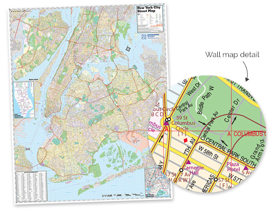Our new wall map of the 5 Boros of New York City