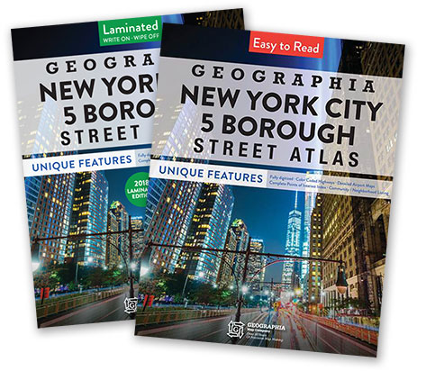 Geographia's Street Atlas for the 5 Boro's of New York City