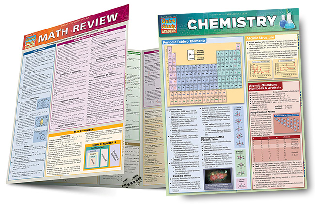full-size laminated reference and study guides