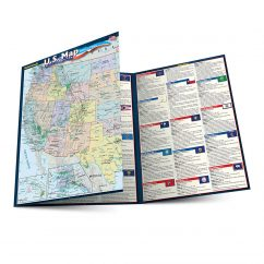 QuickStudy | U.S. Map : States & Cities Laminated Reference Guide