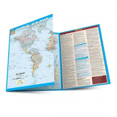 QuickStudy | World & U.S. Map Laminated Reference Guide
